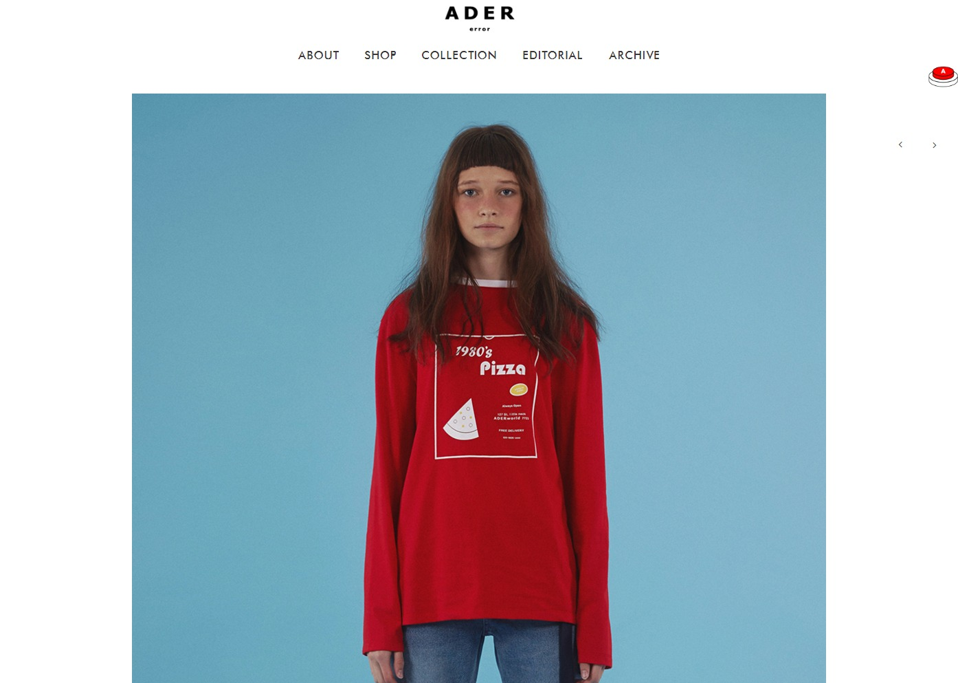 Pizza long sleeve t shirts red   Ader error2