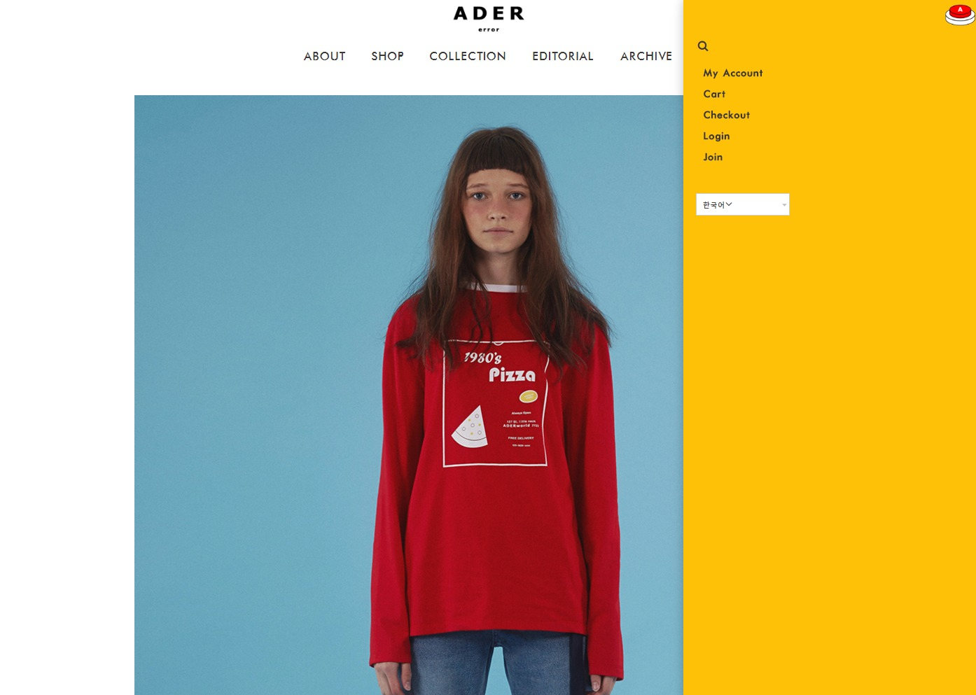 Pizza long sleeve t shirts red   Ader error3