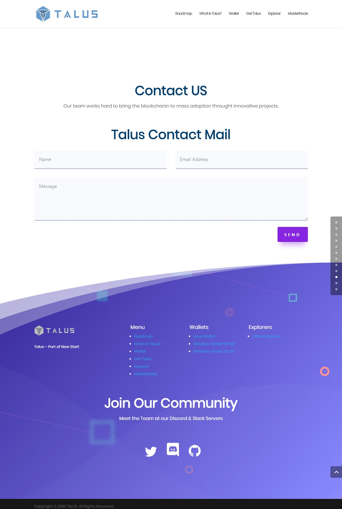 TALUS Decentralize exchange