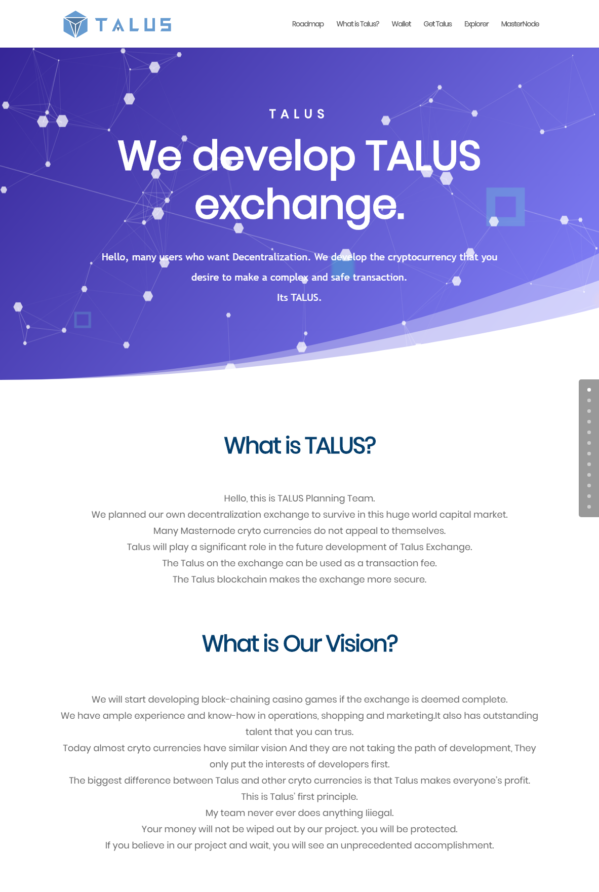 TALUS Decentralize exchange1