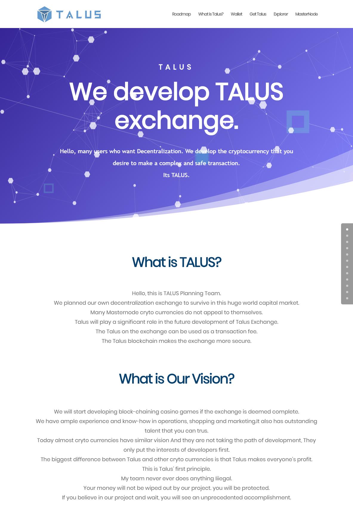 TALUS Decentralize exchange1